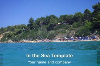 Free Beautiful Sea Imagery Powerpoint Template