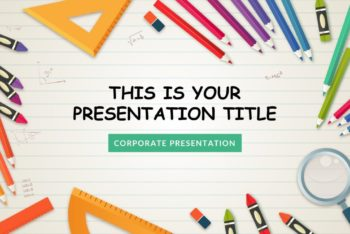 Free Kindergarten School Slides Powerpoint Template