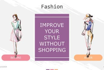 Free Fashion Sense Concept Powerpoint Template