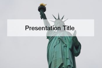 Free Lady Liberty Presentation Powerpoint Template