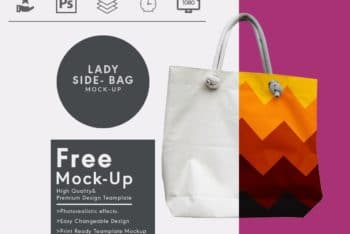 Ladies Side Bag PSD Mockup for Creating Photorealistic Women Bag Design Presentation