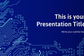 Free Circuit Board Theme Powerpoint Template