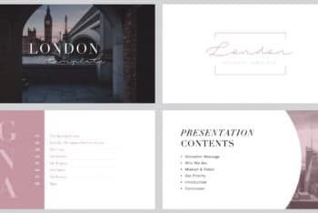Free Classy London City Powerpoint Template