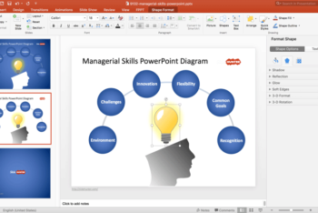 Free Managerial Skills Concept Powerpoint Template