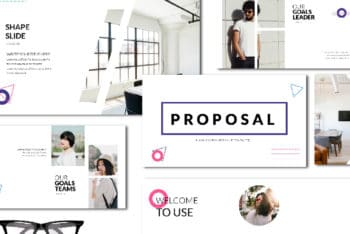Free Modern Minimal Proposal Powerpoint Template