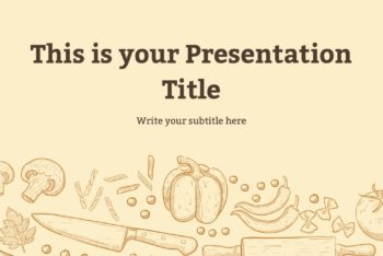 Free Food Theme Slides Powerpoint Template