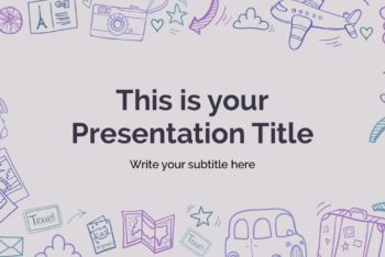 Free Cute Travel Slides Powerpoint Template