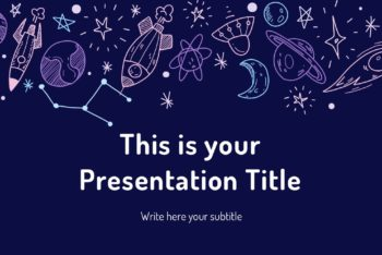 Free Astronomy Theme Slides Powerpoint Template