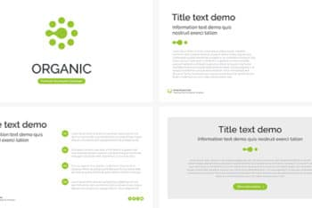 Free Organic Promotion Slides Powerpoint Template