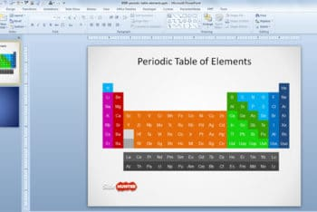 Free Simple Element Table Powerpoint Template