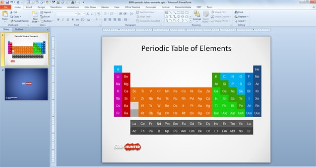 Simple Element Table