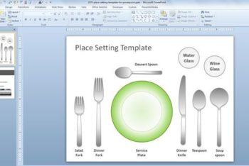 Free Table Utensil Etiquette Powerpoint Template