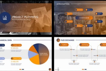 Free Project Plan Theme Powerpoint Template