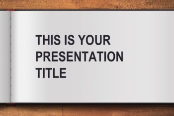 Free Open Book Presentation Powerpoint Template