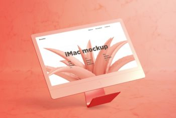 Unique iMac Design PSD Mockup for Free