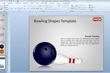 Free Bowling Tutorial Slide Powerpoint Template