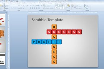 Free Scrabble Lesson Slide Powerpoint Template