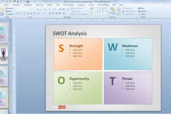 Free SWOT Analysis Slide Powerpoint Template