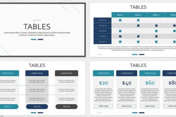 Free Table Chart Presentation Powerpoint Template