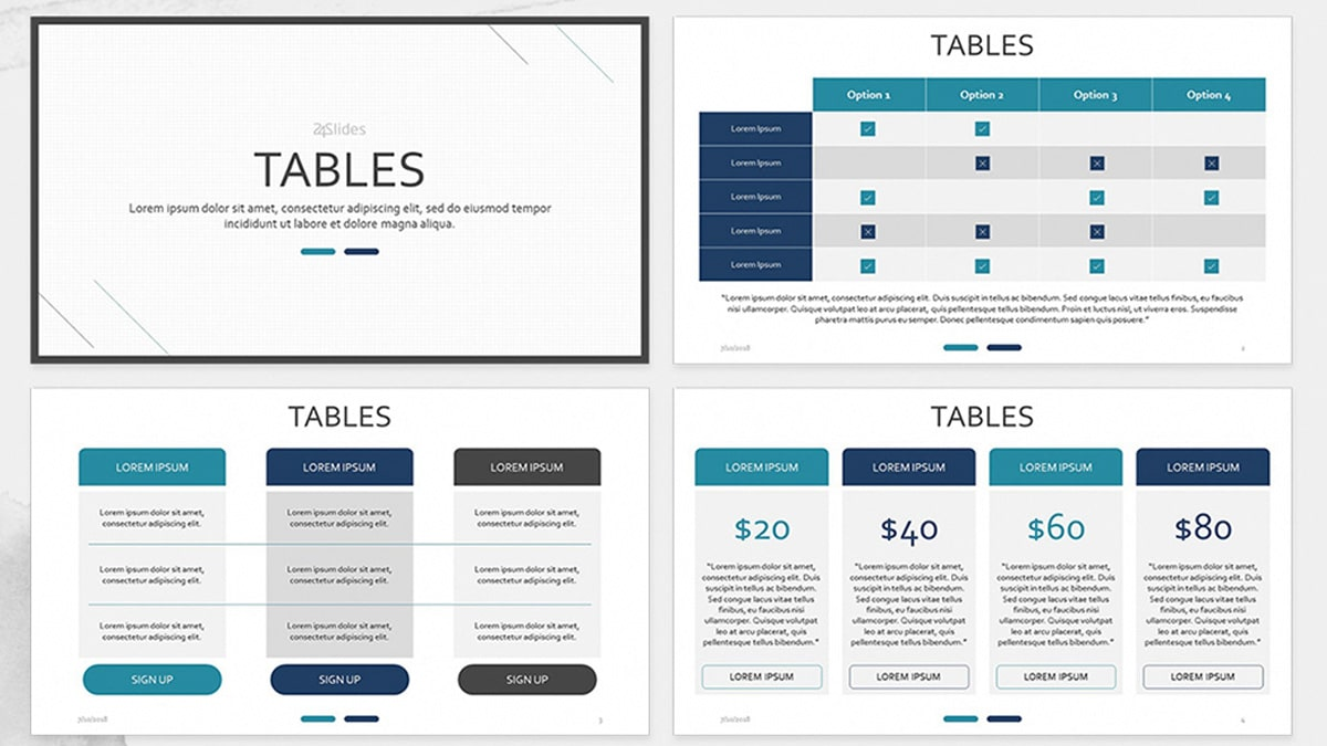 Table Chart Presentation