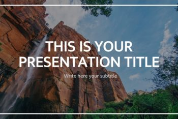 Free Beautiful Earth Slides Powerpoint Template