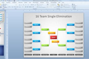 Free Tournament Bracket Slide Powerpoint Template