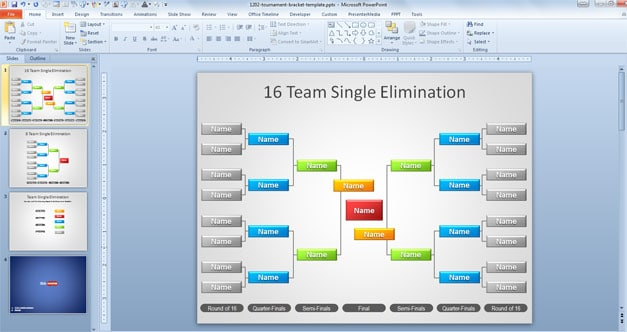 Tournament Bracket Slide