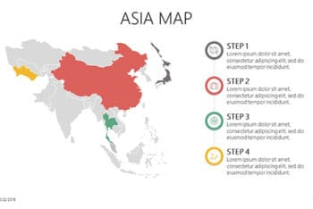 Free Simple Asia Map Powerpoint Template