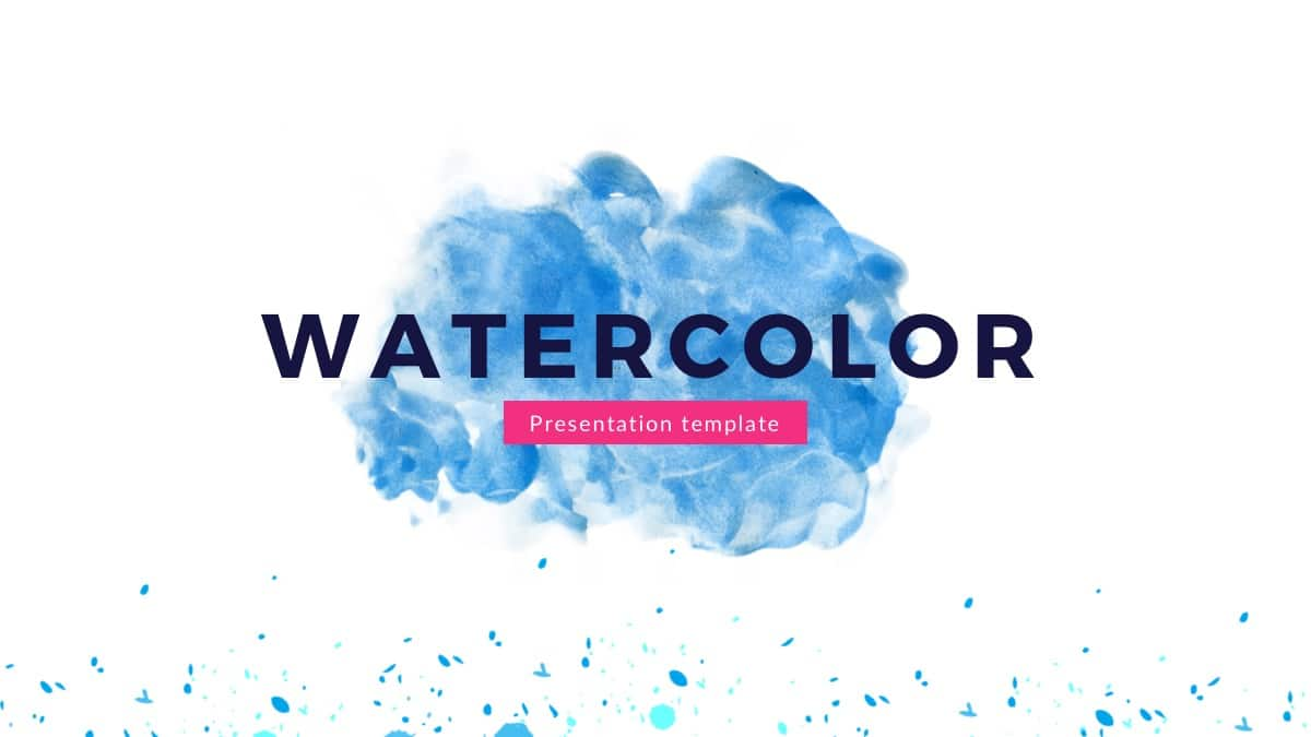Artistic Watercolor Theme