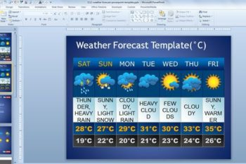 Free Weather Forecast Slides Powerpoint Template