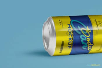 Download Cool Soft Drink Can PSD Mockup