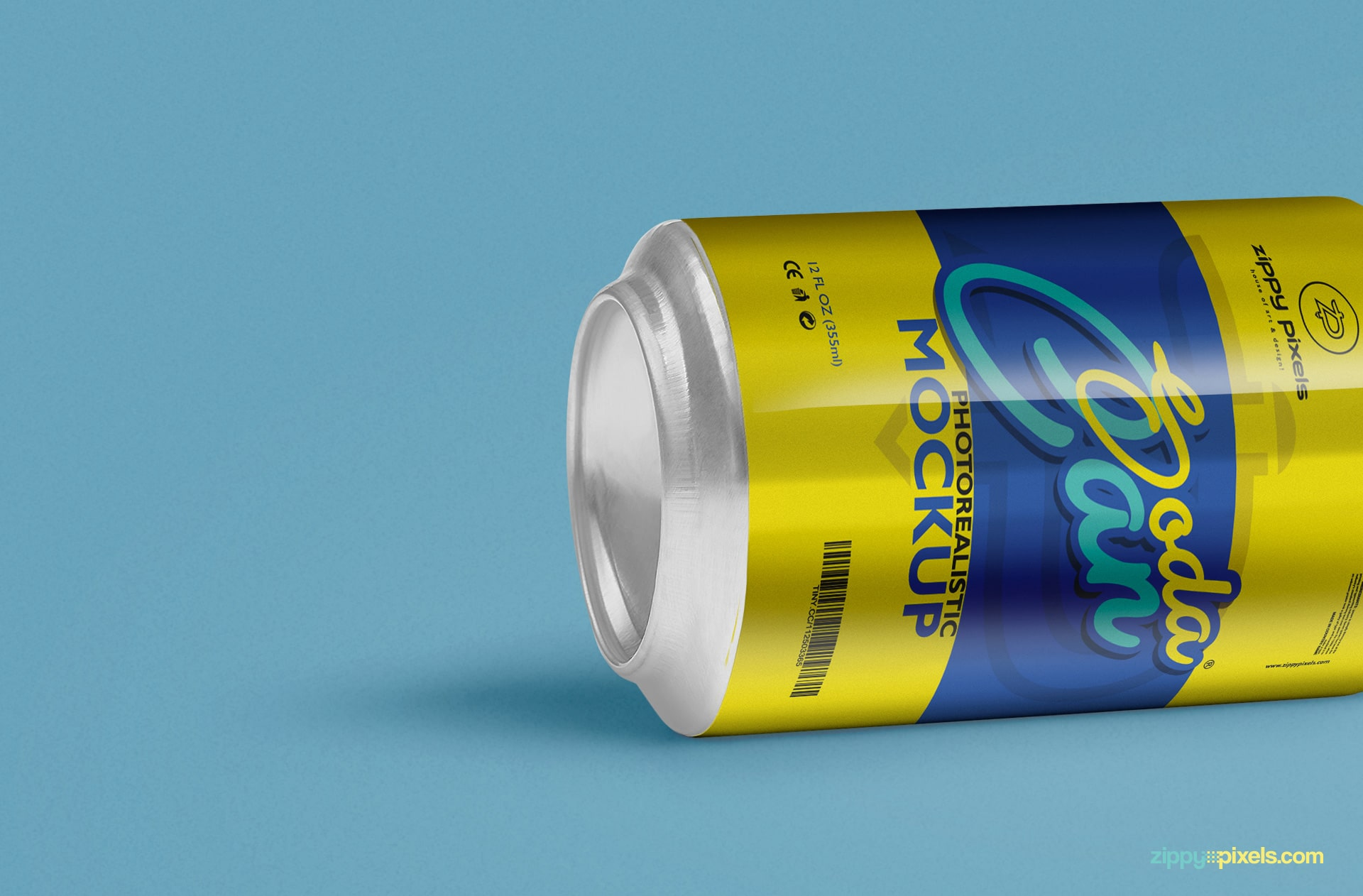 Cool soft drink Can PSD mockup