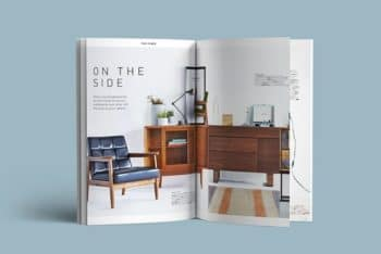 A4 Free Magazine PSD Mockup to Design Beautiful Magazine
