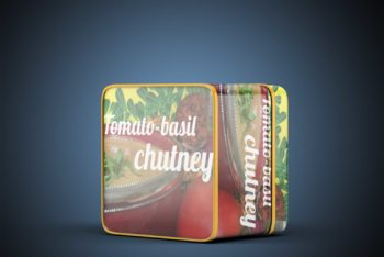 New Tin Can PSD Mockup for Showcasing Photorealistic Designs