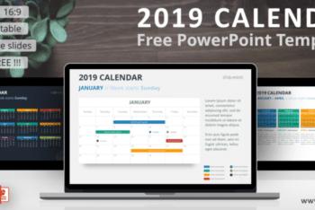 Free 2019 Calendar Slides Powerpoint Template