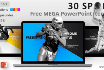 Free Athletic Sports Slides Powerpoint Template