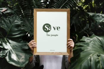 Photorealistic Frame Mockup – Available in PSD Format