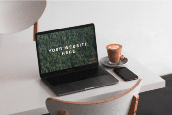 Photorealistic MacBook Mockup PSD Template – Available in High Resolution