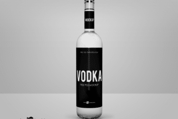 Attractive Vodka Bottle PSD Mockup for Free