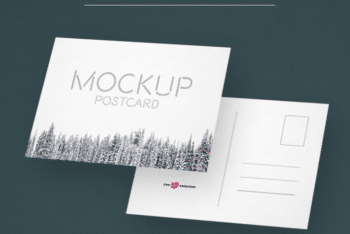 Postcard Design PSD Mockups – Available in High Resolution
