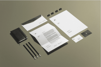 Stylish Business Stationery PSD Mockup for Free