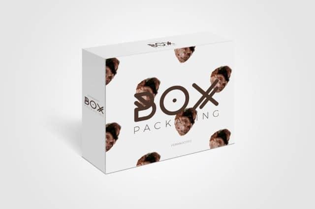 Free Packing Box PSD mockup
