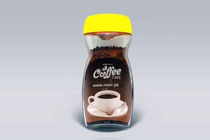 free coffee jar PSD mockup