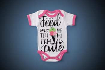 Baby Bodysuit PSD Mockup to Create Photorealistic Presentation