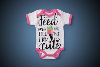 Baby Bodysuit PSD Mockup to Create Photorealistic Presentation