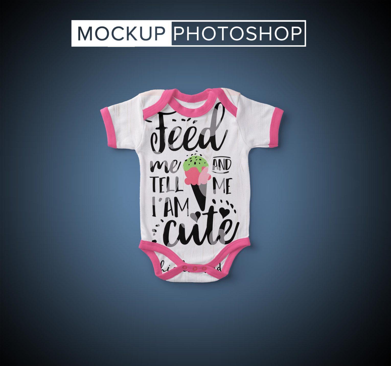 Baby Bodysuit PSD Mockup