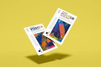 Floating Elegant Design PSD Mockup to Create Beautiful Presentations
