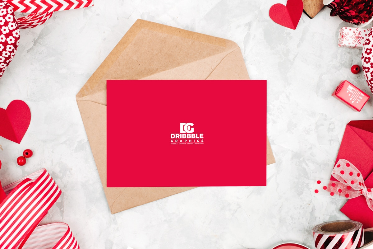 free Greeting Card PSD Mockup Template