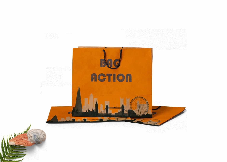 Shopping Bag Design Label PSD Mockup