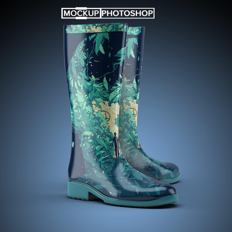 Free Boot PSD Mockup